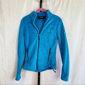 Mountain Hardwear Blue Zip Front Fleece, Small